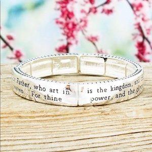 """Jewelry - """"Lord's Prayer"""" Stretch Bracelet."""